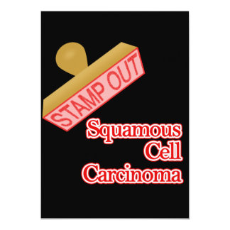 Stamp Out Squamous Cell Carcinoma Card