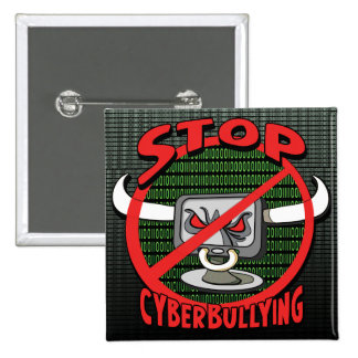 Stamp Out Stop Cyberbullying Button