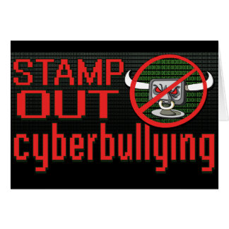 Stamp Out Stop Cyberbullying Greeting Cards