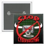 Stamp Out Stop Cyberbullying Pinback Buttons