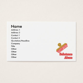 Stamp Out Substance Abuse Business Card