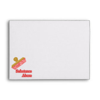 Stamp Out Substance Abuse Envelope