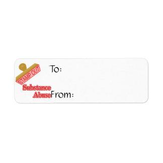 Stamp Out Substance Abuse Return Address Label