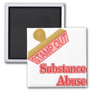 Stamp Out Substance Abuse Refrigerator Magnet