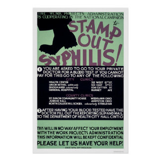 Stamp Out Syphilis 1940 WPA Poster