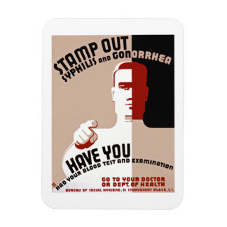 Stamp Out Syphilis and Gonorrhea Rectangular Photo Magnet
