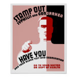 Stamp Out Syphilis And Gonorrhea -- WPA Poster