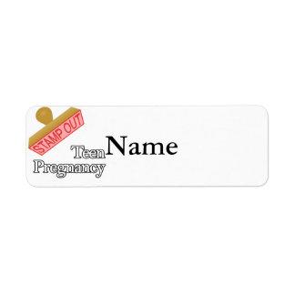 Stamp Out Teen Pregnancy Return Address Label