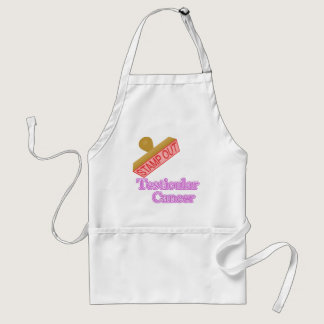 Stamp Out Testicular Cancer Adult Apron