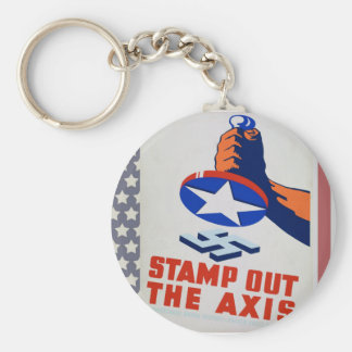 Stamp Out The Axis! Basic Round Button Keychain