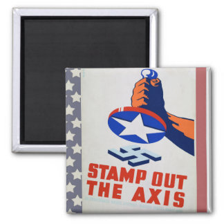 Stamp Out The Axis! Magnet