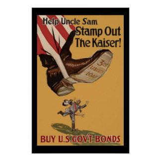 Stamp Out the Kaiser Print