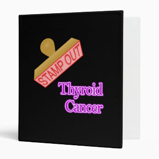 Stamp Out Thyroid Cancer 3 Ring Binder