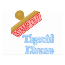 Stamp Out Thyroid Disease Postcard