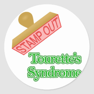Stamp Out Tourette's Syndrome Classic Round Sticker