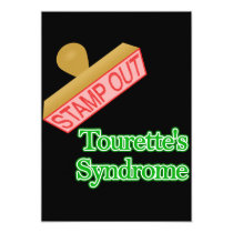 Stamp Out Tourette's Syndrome Invitation