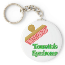 Stamp Out Tourette's Syndrome Keychain