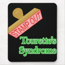Stamp Out Tourette's Syndrome Mouse Pad