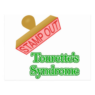 Stamp Out Tourette's Syndrome Postcard