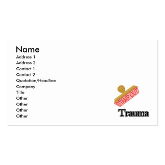 Stamp Out Trauma Business Cards