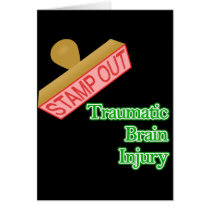 Stamp Out Traumatic Brain Injury Card