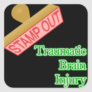Stamp Out Traumatic Brain Injury Square Sticker