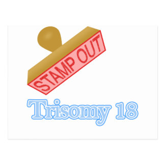 Stamp Out Trisomy 18 Postcard