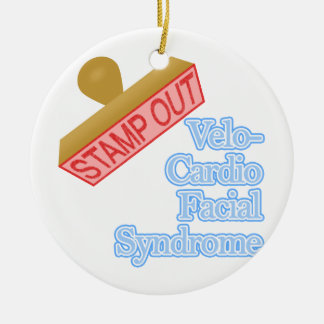 Stamp Out Velo-Cardio Facial Syndrome Christmas Tree Ornament