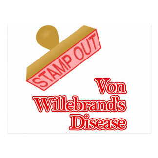 Stamp Out Von Willebrand's Disease Postcard