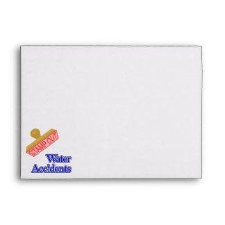 Stamp Out Water Accidents Envelope