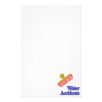 Stamp Out Water Accidents Stationery