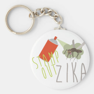 Stamp Out Zika Keychain