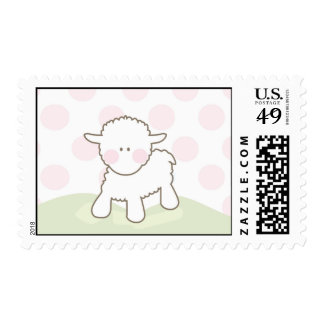 Stamp Pink Little Lamb Baby Stamp