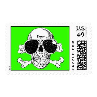 Stamp (postage) - Shady Skull