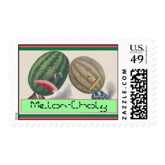 Stamp Puns Melons Melon-choly Melancholy missing U