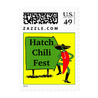 Stamp Red Yellow Green Stamp Sign Hatch Chili Fest