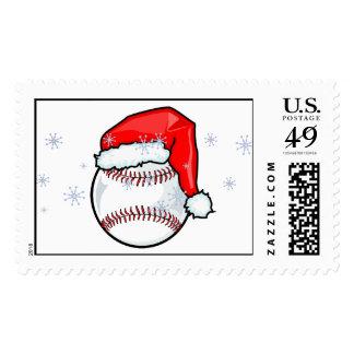 Stamp - Santa Baseball