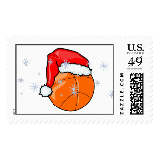 Stamp - Santa Basketball