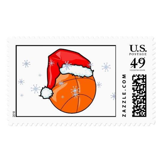 Stamp - Santa Basketball
