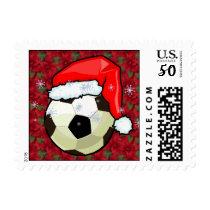 Stamp - Santa Soccer Ball