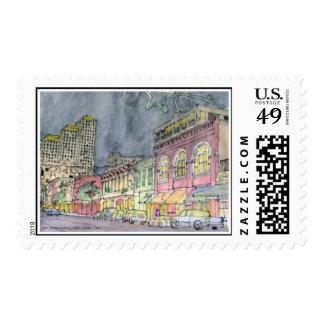 Stamp-Sixth Street looking West, Austin, Texas