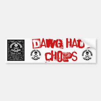 stamp, stamp, DHCW, DAWG HAUS CHOPS Car Bumper Sticker