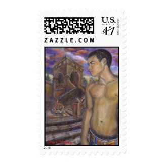 STAMP: Sunset and Stairs Postage
