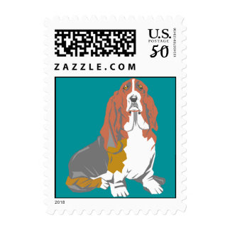 Stamp Sweet Expression artsy Basset Hounds Hound