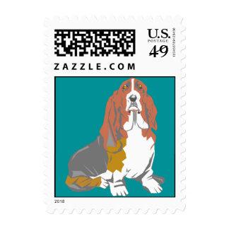 Stamp Sweet Expression artsy Basset Hounds Hound