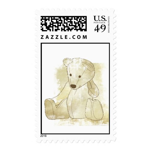 Stamp Teddy Bear