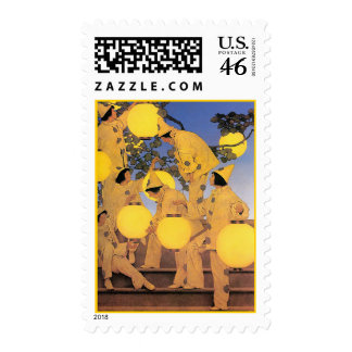 Stamp: The Lantern Bearers - maxfield+parrish
