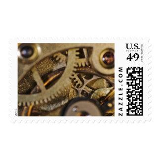 Stamp: Tic Tac Wheels. Watch Mechanism Postage Stamp