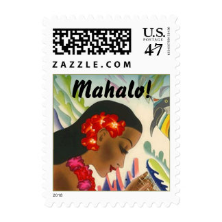 Stamp Tropical Mahalo! Island Girl Lei Hibiscus