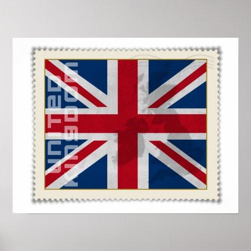 Stamp United Kingdom Posters